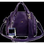 BRUNO ROSSI Italian Shoulder Bag Handbag Purse in Purple Leather - Bolsas pequenas - $469.00  ~ 402.82€