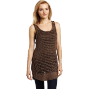 Calvin Klein Jeans Women's Cast Off Stitch Sweater Tank, Brown Shale, X-Large - Vests - $79.50