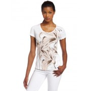 Calvin Klein Jeans Womens Petite Lily White - T-shirts - $27.80