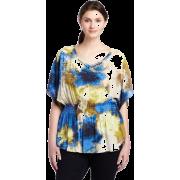 Calvin Klein Jeans Womens Plus Size Cinched Waist Scoopneck Top - T-shirts - $37.74