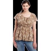 Calvin Klein Jeans Womens Plus Size Printed Empire Waist Shirt, Cenote, 2X - T-shirts - $49.50