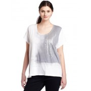 Calvin Klein Jeans Womens Plus Size Waterfall Tee - Camisola - curta - $35.02  ~ 30.08€