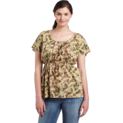 Calvin Klein Jeans Womens Printed Empire Waist Shirt,Cornstalk,3X - T-shirts - $49.50
