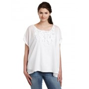 Calvin Klein Jeans Womens Rolled Sleeve Easy Pullover Shirt - Camisola - curta - $69.50  ~ 59.69€