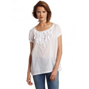 Calvin Klein Jeans Women's Rolled Sleeve Easy Pullover, White, X-Large - Top - $59.50