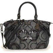 Coach 15945 Madison Sequin Op Art Sophia Black - Bag - $314.99