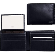 Coach 4658 Water Buffalo Leather Passcase ID Wallet, Black - Wallets - $115.00