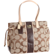 Coach Chelsea Signature Stripe Charlie Bag Khaki Mahogany - Bag - $264.99