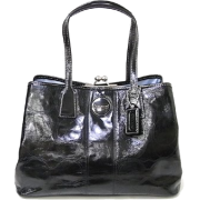 Coach Patent Leather Stitch Business Carryall Bag Tote Black - Coach 15658BLK - Bag - $249.99