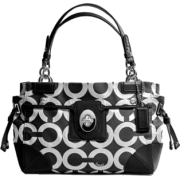 Coach Peyton Canvas Op Art Carryall 14515 Black White - Bag - $249.99