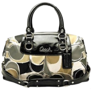Coach Signature Sateen Scarf Print Hand Drawn Ashley Satchel Convertiable Bag Purse 17650 Multi - Bag - $249.99
