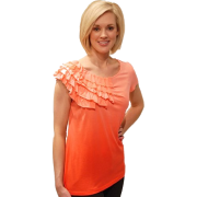 ELLA MOSS PAPAYA HEARTS RUFFLE TOP - Top - $44.00