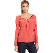Ella Moss Women's Bodga Long Sleeve Shirr Top - Top - $57.04