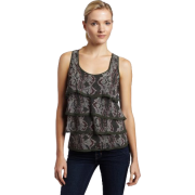 Ella moss Womens Cobra Ruffle Layer Tank - Top - $54.88