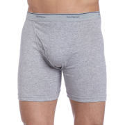 Fruit of the Loom Men's Boxer Briefs 4 Pack Black/Grey - Underwear - $10.67