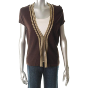 Jones New York Collection Cardigan Brown BHFO Sale Misses Sweater S - Cardigan - $99.00