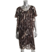 Jones New York Collection Sorrento Brown Versatile Dress BHFO Sale 4 - Dresses - $159.00