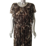 Jones New York Collection Sorrento Plus Size Versatile Dress Brown BHFO Sale 18W - Haljine - $175.00  ~ 1.111,70kn