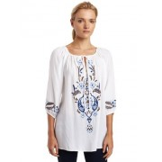 Karen Kane Women's Keyhole Top With Embroidery - Top - $55.58
