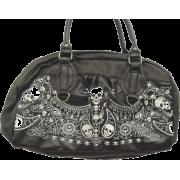 Loungefly Bandana Skull Tattoo Art Skull Satchel Handbag Vegan friendly - Bag - $65.95