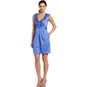 Maxandcleo Womens Blue Ruffle Front Dress - Dresses - $90.61