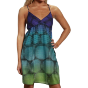 Rip Curl Spot N Dot Bright Magenta Juniors Woven Strappy Dress - Dresses - $42.00