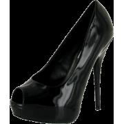 STEVE MADDEN Luluu Womens Fashion Patent Platform High Heel Stiletto Peep Toe Dress Shoe - Platforms - $49.99