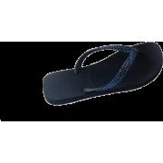 SWAROVSKI CRYSTAL HAVAIANAS NAVY SAPPHIRE THONGS SANDALS FLIP FLOPS U.S. SIZES 4-11 - 休闲凉鞋 - $74.99  ~ ¥502.46