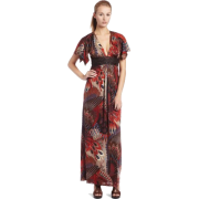 Sky Women's Gretal Feather Print Maxi Dress - Dresses - $93.49