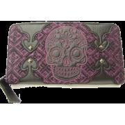 Sugar Skull Purple Tweed Wallet by Loungefly - Wallets - $35.95