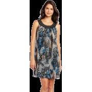 Tiana B Women's Chiffon Dress With Neck Detail - Dresses - $39.99