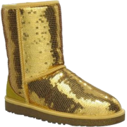 UGG Australia Women's Classic Sparkle Short Boots Footwear Gold - Boots - $167.00