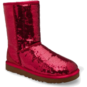 UGG Australia Women's Classic Sparkle Short Boots Footwear Ruby Red - Boots - $167.00