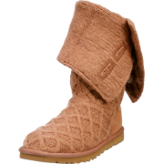 UGG Lattice Cardy Boots 3066-Charcoal, Size 9 - Boots - $112.99