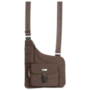 baggallini Uptown Bagg - Crinkle Nylon (Black/Khaki) - Bag - $74.95