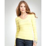 bebe Logo Studded V-Neck Sweater LEMON SUGAR - Cardigan - $59.00