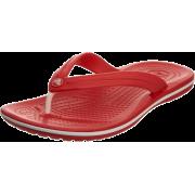 crocs Unisex Classic Clog Red - Thongs - $14.89