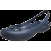 crocs Women's Malindi Flat Slingback Navy - Sandals - $12.01