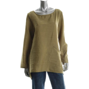 j Jones New York Green Slub Blouse Sale Top S - Long sleeves t-shirts - $79.00