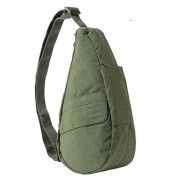 AmeriBag X-Small Distressed Nylon Healthy Back Bag Tote, Deep Forest - Shoes - $55.00