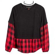 Amy Byer Girls' 7-16 Long Sleeve 2-fer Top - Shirts - $24.59