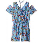 Amy Byer Girls' Big Cold-Shoulder V-Neck Romper - Shorts - $5.28