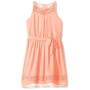 Amy Byer Girls' Big Halter Fit and Flare Dress with Lace - Dresses - $24.33