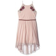 Amy Byer Girls' Big High-Low Dress with Applique - Dresses - $18.68