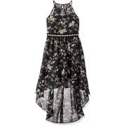 Amy Byer Girls' Big High-Low Dress with Illusion Neckline - Dresses - $25.02
