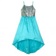 Amy Byer Girls' Big Sequin-to-Taffeta High-Low Party Dress - Dresses - $25.40