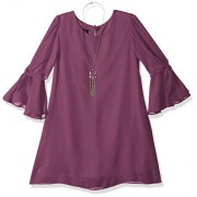 Amy Byer Girls' Big Tie Sleeve Sheath Dress and Necklace - Dresses - $25.39