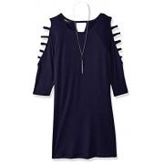 Amy Byer Girls' Big line Lattice Sleeve Knit Dress - Dresses - $21.39