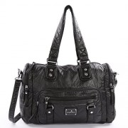 Angelkiss Womens Multi Pocket Functional Oversize Shoulder Handbags for Travelling - Hand bag - $65.99