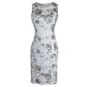 Anna-Kaci Junior Women Grey Floral Sequin Lace Cocktail Party Dress - Vestidos - $55.99  ~ 48.09€
